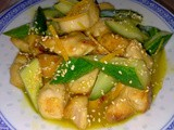 Chicken cucumber with orange sauce