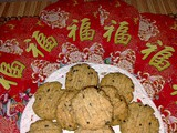 Cny 2021 - eggless sesame seeds oatmeal cookies