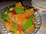 Ezcr#134-fry tofu puffs with capsicum