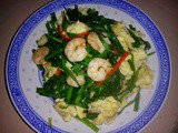 Ezcr #2 – stir fry chives with prawns and eggs