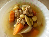 Ezcr#51 - thermal cooker - gingko, carrots and pork ribs soup