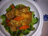 Ezcr#54 - fried frozen tofu in black pepper sauce