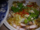 Ezcr#78 - nian nian ru yee xia [steamed prawns with glass noodles]