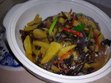 Ezcr#92 - stir fry black fungus with pineapples