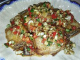 Fried fish with tasty sauce