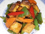 Fried peppers with beancurd