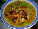 Fried tom yam chicken noodles