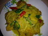 Green chicken curry [ayam sambal hijau]