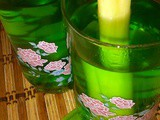 Lemongrass, ginger and pandan drink