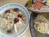 Lotus roots barley with pork soup
