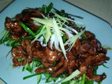 Shredded pork with sweet soy bean paste