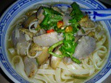 Soybean Noodle with Yam Soup