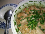 Steamed embryo rice with chicken