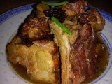Stewed roasted pork ribs