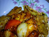 Stir fried black pepper fish fillets