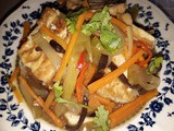 Stir fried tofu with szechuan vegetable [cai choy]