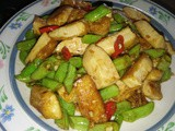 Stir fry french beans in fragrant sauce