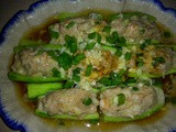 Stuffed loofah with pork & shrimp paste
