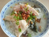 Thermal cooker - century egg porridge with salty chicken