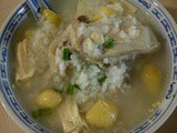 Thermal cooker - gingko nut chicken porridge