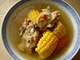 Thermal cooker - goji, pork ribs and corn soup