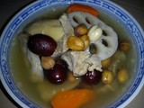 Thermal cooker - lotus root and meat soup
