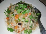 Vegetarian fried rice with cai choy