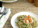 Chimichurri Pasta with Shrimp