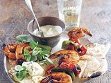 Barbecue Prawns Marinated in Chilli & Soy
