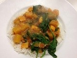 Butternut squash and spinach curry