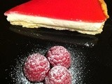 Yogurt and raspberry tart