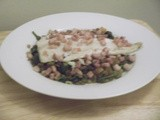 Baked Cod with lentils and lardons