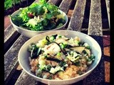 Barbequed Courgette and Bulgur Wheat Salad