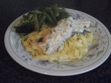 Salmon with Dill and Creme Fraiche