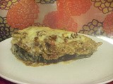 Stuffed Aubergines with Bechamel Sauce