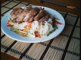 Tea Smoked Duck with Rice Noodle Salad and a lesson in Mandarin