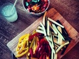 Traffic Light Fajitas (with Red Pepper, Yellow Pepper and Courgette)