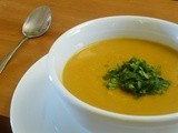 Butternut Soup with White Beans and Cilantro