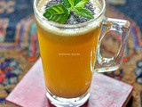 Indian style Pineapple Juice with Chia Bia Seeds
