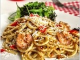 Mary Berry's Spaghetti with King Prawns and Tomato To Celebrate World Pasta Day & the Aga Rangemaster