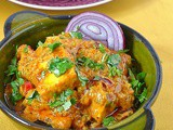 National Curry Week Special ~ Quick Aachari Paneer Recipe with Kingfisher Beer