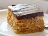 Pumpkin Eclair Cake with Chocolate Ganache Frosting