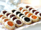 Thumbprint Cookies (Raspberry, Blueberry and Apricot Jam)