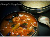 Prawns Drumstick Curry/ Chemmeen Muringkka Theeyal