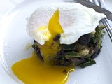 Kale, Potato and Black Pudding Stacks with Poached Egg