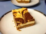 Nutella Swirl Cheesecake Bars {Baking with Sisters, Part 7}