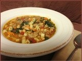 {Slow Cooker} Sausage and Bean Soup with Pasta & Kale