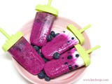 Fruity blueberry yogurt popsicles