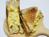 Silky eggs grilled cheese sandwich