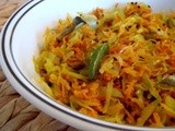 Cabbage Carrot Poriyal/ Stir fry